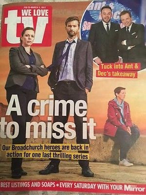 UK We Love TV Magazine February 2017 David Tennant Broadchurch Stefanie Martini