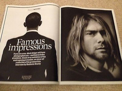 UK Observer Mag Jan 2014 Kurt Cobain Barack Obama John Malkovich Keith Richards