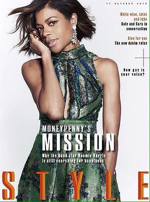 (UK) STYLE MAGAZINE OCT 2015 NAOMIE HARRIS JAMES BOND KATE MOSS CARA DELEVINGNE