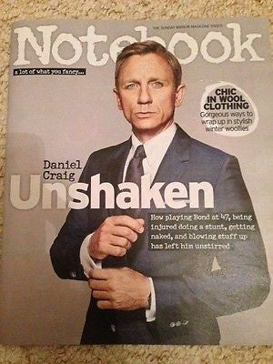 (UK) NOTEBOOK MAGAZINE OCT 2015 DANIEL CRAIG JAMES BOND SPECTRE PHOTO INTERVIEW