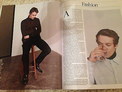 Game of Thrones ALFIE ALLEN Photo Interview Observer Magazine 8/2016 Joey Ramone