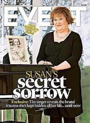 SUSAN BOYLE PHOTO COVER INTERVIEW UK EVENT MAGAZINE 11/16 MARK GATISS JAMES MAY