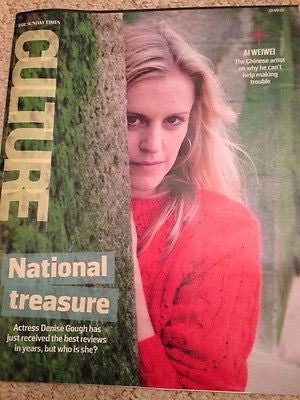 (UK) CULTURE MAGAZINE 2015 DENISE GOUGH AI WEIWEI PETER O'TOOLE CARLY RAE JEPSEN