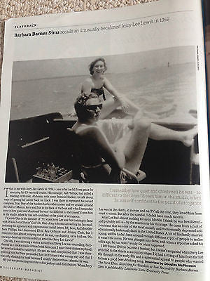 UK TELEGRAPH MAGAZINE - ANNELY BOUMA - JERRY LEE LEWIS - BARBARA SIMS - MAY 2015
