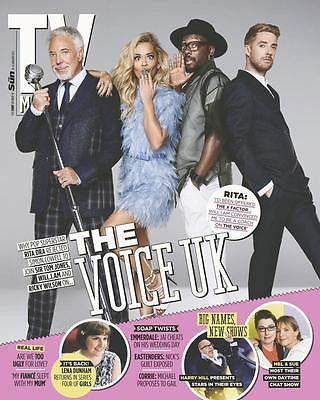 NEW TV Magazine January 2015 Rita Ora Will.i.am Tom Jones Ricky Wilson THE VOICE