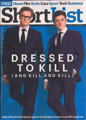 KINGSMAN Colin Firth Taron Egerton PHOTO INTERVIEW MAGAZINE JANUARY 2015