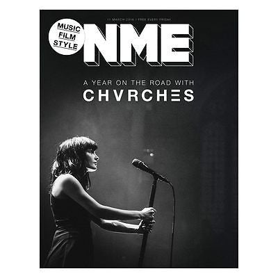 On the Road CHVRCHES Photo Cover interview NME MAGAZINE March 2016