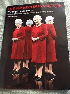 SUNDAY TIMES UK MAGAZINE QUEEN ELIZABETH II SOUVENIR ISSUE - 2 AUGUST 2015 NEW