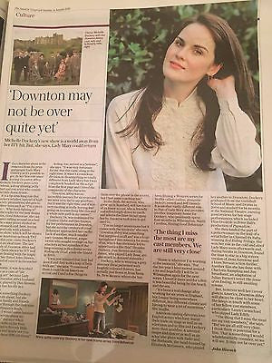 Downton Abbey MICHELLE DOCKERY PHOTO INTERVIEW AUGUST 2016 NEW
