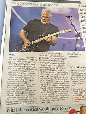 ALINA COJOCARU Dave Gilmour Pink Floyd Aidan Turner TIMES REVIEW March 7 2015