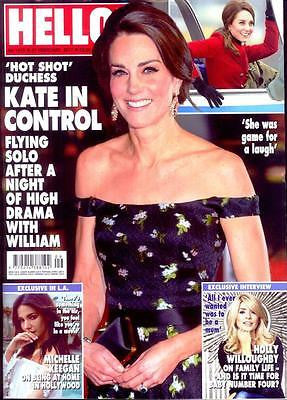 Hello! magazine - February 2017 Kate Middleton Prince William Adele
