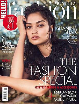 SHANINA SHAIK UK HELLO! FASHION MAGAZINE 2016 STEFANIE MARTINI AMY MANSON