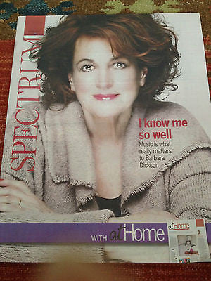 BARBARA DICKSON PHOTO COVER INTERVIEW SPECTRUM MAGAZINE FEBRUARY 2015