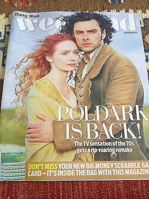 POLDARK Aidan Turner PHOTO COVER FEB 2015 CLARE GROGAN RUSSELL TOVEY BRIAN MAY