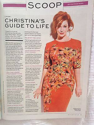 Stunning MARION COTILLARD PHOTO COVER STYLIST 2014 MAGAZINE CHRISTINA HENDRICKS