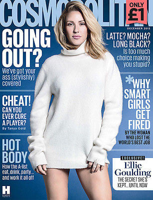 ELLIE GOULDING Photo Cover Interview Uk Cosmopolitan Magazine DECEMBER 2015