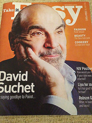 NEW Take It Easy Magazine DAVID SUCHET Poirot Robson Green (10 November 2013)