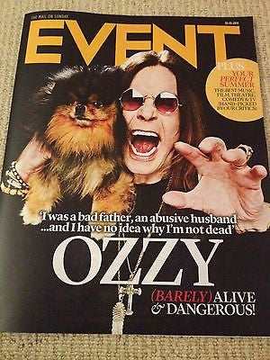 OZZY OSBOURNE Nathaniel Parker Rob Lowe Kevin Spacey EVENT Magazine June 2014