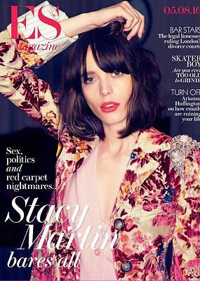 STACY MARTIN bares all PHOTO COVER INTERVIEW UK ES MAGAZINE AUGUST 2016