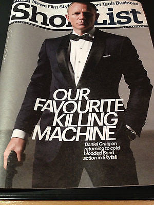 Shortlist Magazine 2012 Daniel Craig 007 Skyfall James Bond Ben Whishaw