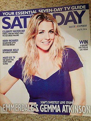 SATURDAY Magazine 7/2016 GEMMA ATKINSON Keith Richards PP ARNOLD Roxanne Pallett