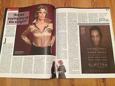 ST VINCENT UK CULTURE PHOTO COVER 2014 1DAY ONLY MAGAZINE JANE FONDA DAVID BYRNE