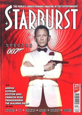 STARBURST MAGAZINE 417 OCTOBER 2015 DANIEL CRAIG JAMES BOND SPECTRE PHOTO COVER