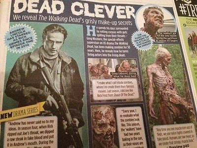 TV MAGAZINE OCTOBER 2015 WALKING DEAD BEN WHISHAW STELLAN SKARSGARD DANNY MILLER