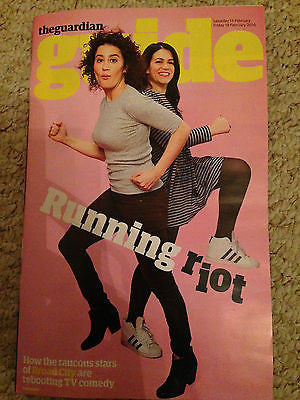 GUIDE Magazine 02/2016 BROAD CITY Abbi Jacobson Ilana Glazer Photo Cover Inter/w