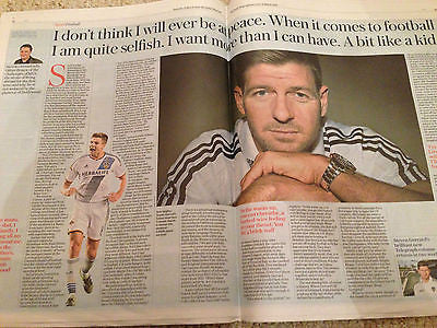 UK TELEGRAPH SPORT - STEVEN GERRARD INTERVIEW - LIVERPOOL FC - 12 MARCH 2016