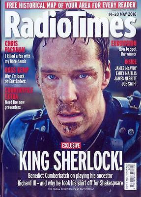 BENEDICT CUMBERBATCH - HOLLOW CROWN Radio Times UK magazine 14 May 2016