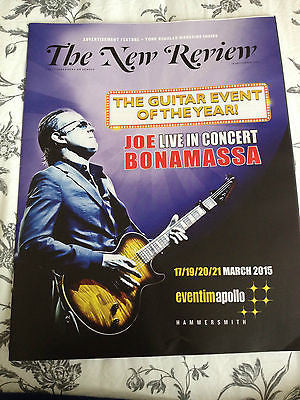 JOE BONAMASSA DAVID BYRNE PHOTO COVER INTERVIEW SEPTEMBER 28 2014 UK MAGAZINE