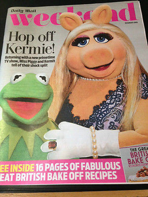 WEEKEND MAGAZINE 2015 THE MUPPETS RICHARD MADDEN TRISTAN GEMMILL MARY WILSON