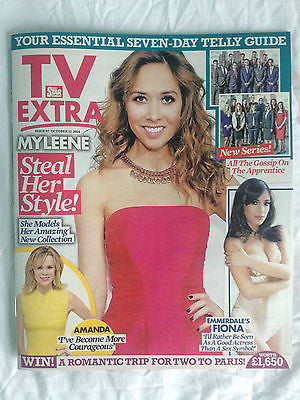 NEW TV EXTRA Magazine October 2014 MYLEENE KLASS Fiona Wade Peter Andre