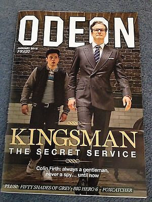 KINGSMAN Colin Firth Taron Egerton PHOTO UK ODEON MAGAZINE JAN 2015 JAMIE DORNAN