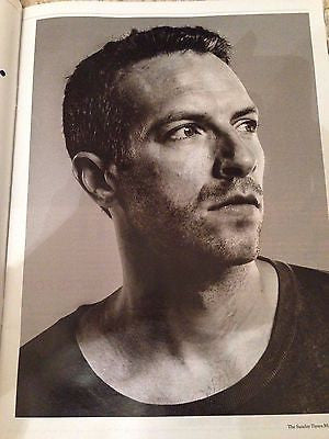Chris Martin COLDPLAY Photo interview UK SUNDAY TIMES MAGAZINE MARCH 2016