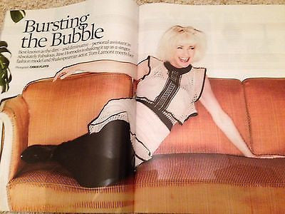 JANE HORROCKS - AB FAB - BARRY MANILOW Observer UK magazine June 2016