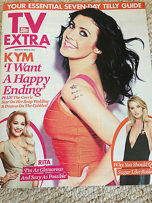 KYM MARSH PHOTO INTERVIEW TV EXTRA MAGAZINE MAY 2015 EDEN TAYLOR DRAPER RITA ORA
