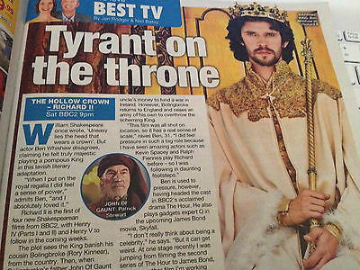 Ben Whishaw in Hollow Crown interview UK Magazine 2012
