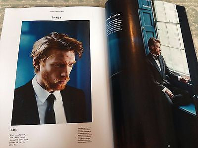 NEW UK !! DOMHNALL GLEESON inter/w THE FORCE AWAKENS HUNK UK ESQUIRE ISSUE ***