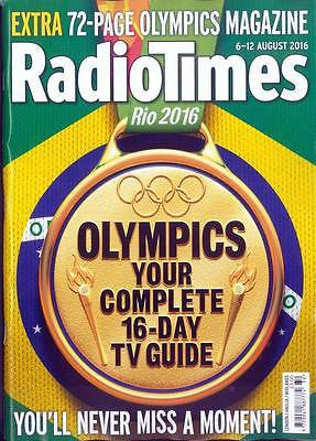 RIO OLYMPICS 2016 - Complete 16 Day Guide Radio Times UK magazine 6 August 2016