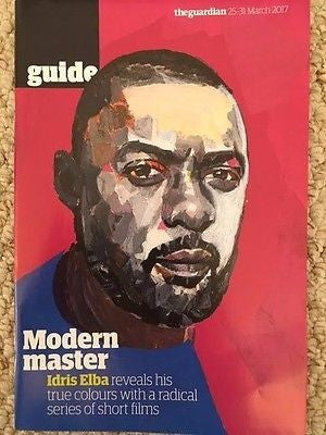 IDRIS ELBA PHOTO COVER UK GUIDE MAGAZINE 2017 Dan Stevens Jean Smart Legion