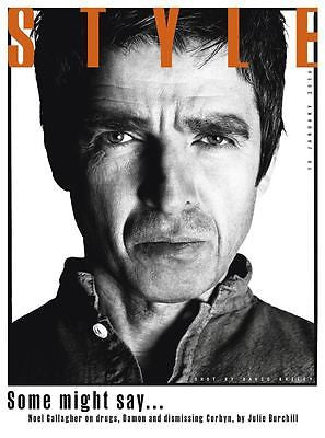 OASIS Noel Gallagher Photo Cover interview UK STYLE MAGAZINE JANUARY 2016
