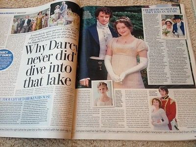 Mr Darcy COLIN FIRTH PRIDE & PREJUDICE PHOTO INTERVIEW UK MAGAZINE OCT 2015 NEW