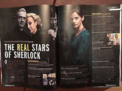 Sherlock Louise Brealey Amanda Abbington Photo interview UK MAGAZINE Jan 2017
