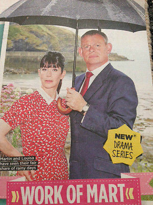 TESS DALY Martin Clunes James Norton Bertie Carvel TV MAGAZINE September 2015