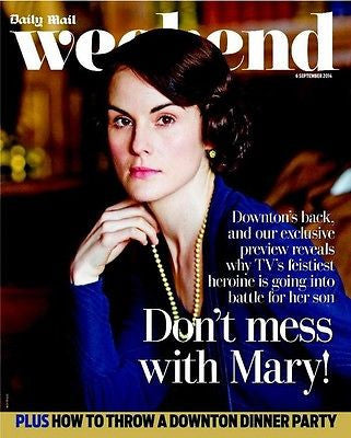 DOWNTON ABBEY UK mag 2014 NEW SERIES MICHELLE DOCKERY LADY MARY CILLA BLACK