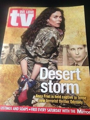 (UK) WE LOVE TV MAGAZINE JUNE 2015 ANNA FRIEL ODYSSEY PHOTO INTERVIEW NOAH WYLE