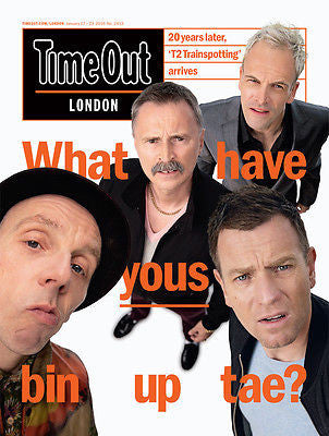 TRAINSPOTTING 2 - ROBERT CARLYLE - Ewan McGregor Time Out London UK magazine January 2017