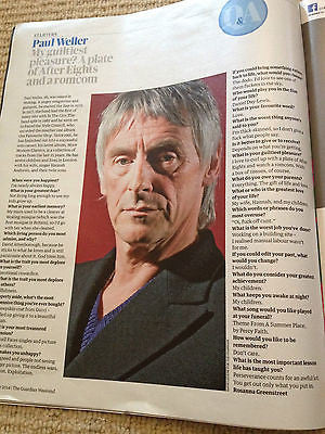 The Jam PAUL WELLER photo interview JUNE 2014 UK MAGAZINE